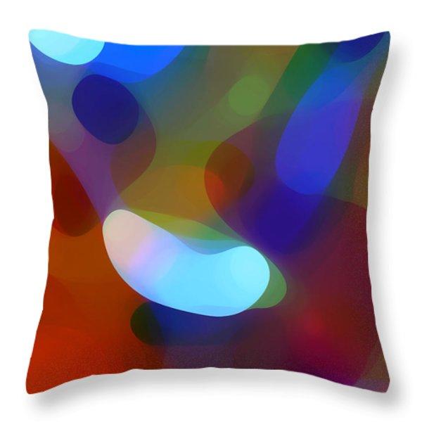 Falling Light Throw Pillow by Amy Vangsgard