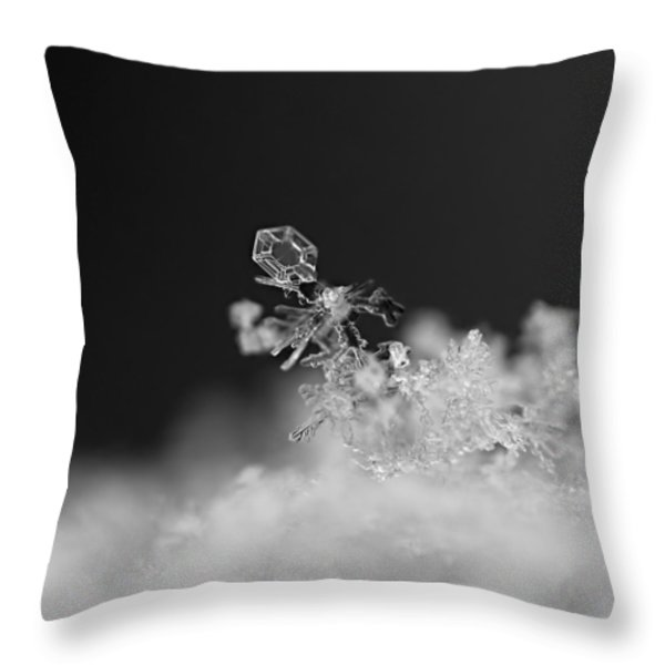 Falling Snowman Throw Pillow by Rona Black