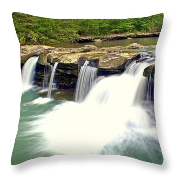 Falling Waters Falls 4 Throw Pillow by Marty Koch