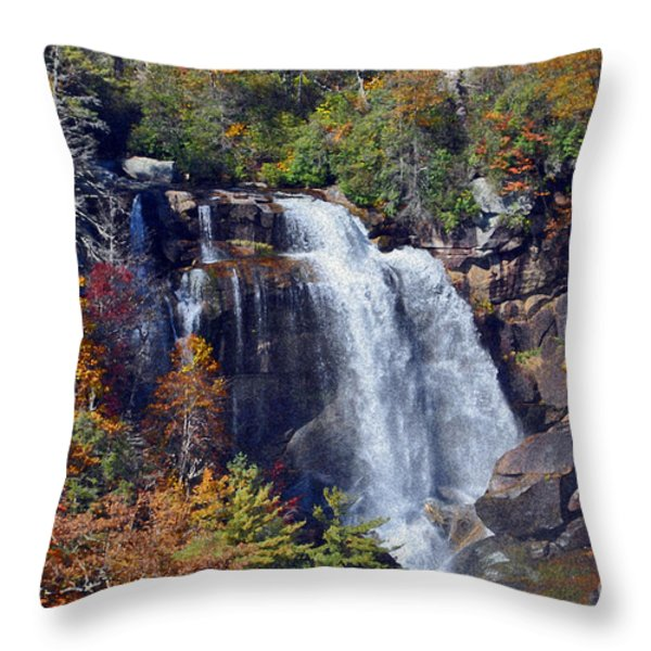 Falls In Fall Throw Pillow by Lydia Holly