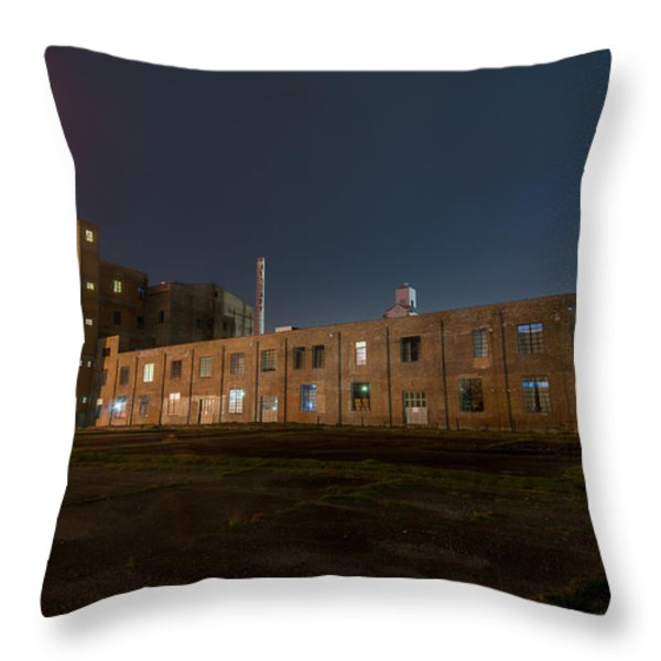 Falstaff Brewery Throw Pillow by Andy Crawford