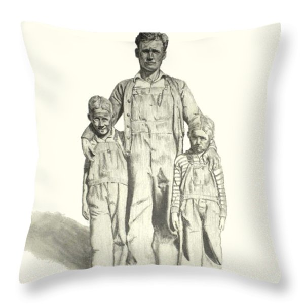 Family Throw Pillow by Todd Spaur