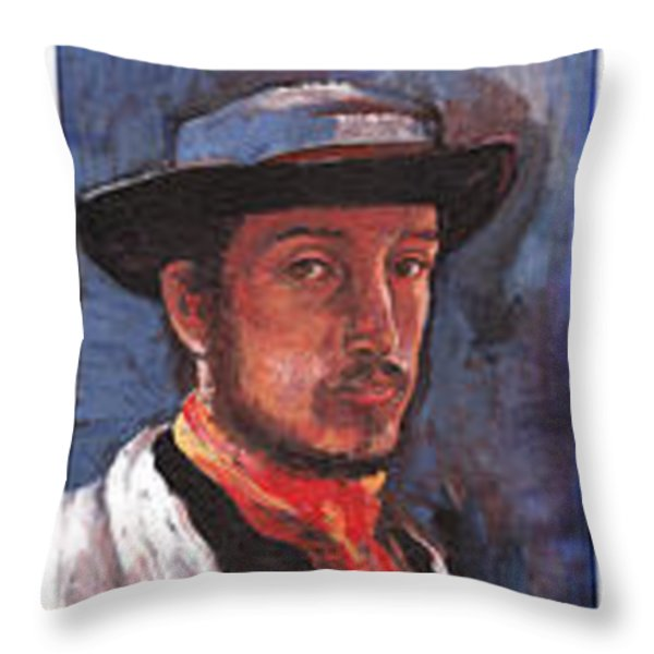 Famous Artists Throw Pillow by Tom Roderick