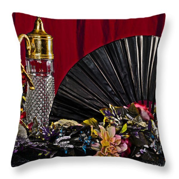 Fan Fare Throw Pillow by Camille Lopez