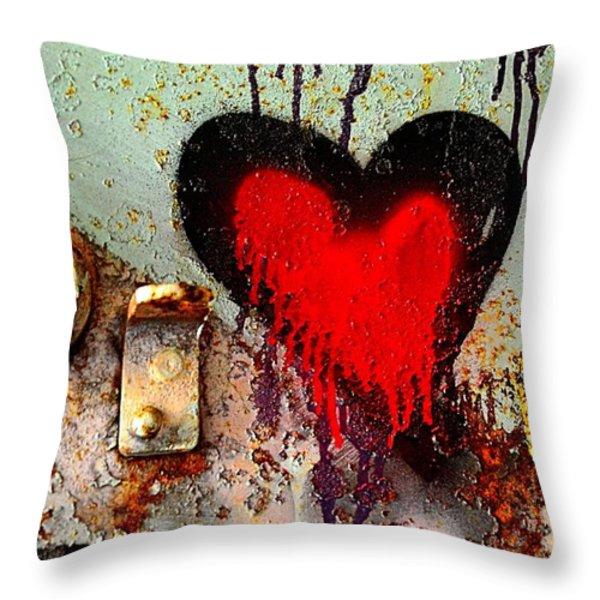 Fanatic Heart Throw Pillow by Lauren Hunter
