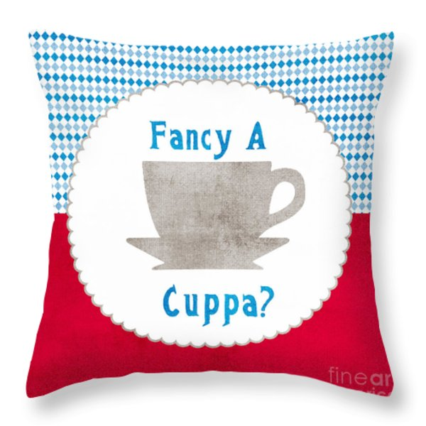 Fancy a Cup Throw Pillow by Linda Woods