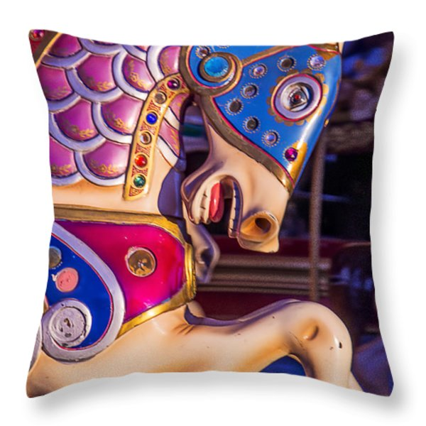 Fancy Horse Throw Pillow by Garry Gay