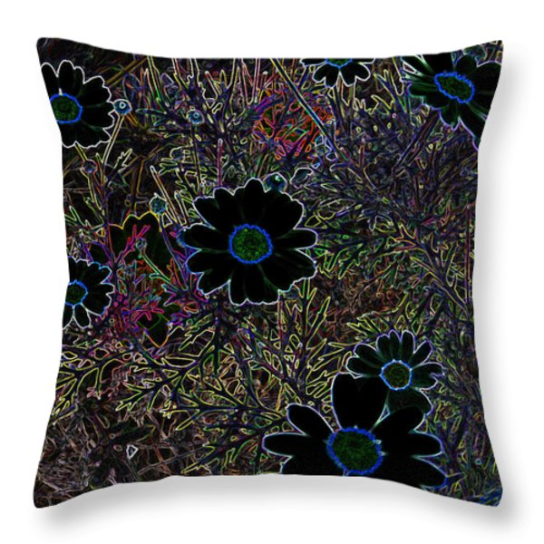 Fantasy Garden No. 2 Throw Pillow by Cathy Peterson