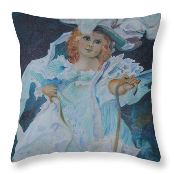 Fantasy Throw Pillow by Joyce Reid