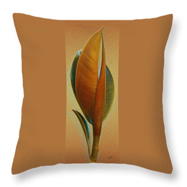 Fantasy Leaf Throw Pillow by Ben and Raisa Gertsberg