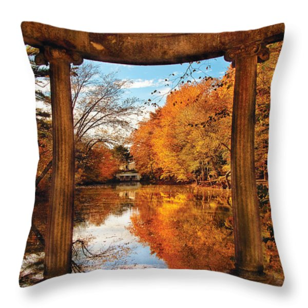 Fantasy - Paradise waits Throw Pillow by Mike Savad