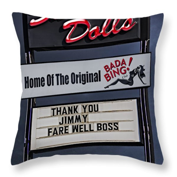 Farewell Boss Throw Pillow by Susan Candelario