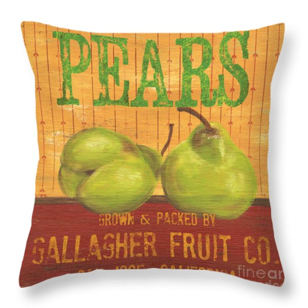 Farm Fresh Fruit 1 Throw Pillow by Debbie DeWitt