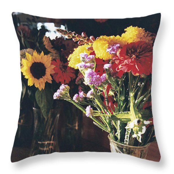 Farm Stand Throw Pillow by Caitlyn  Grasso