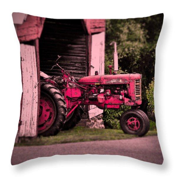 Farmall 200 Throw Pillow by Robert Geary
