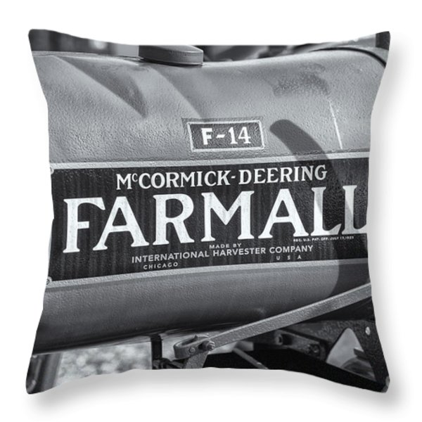 Farmall F-14 Tractor II Throw Pillow by Clarence Holmes