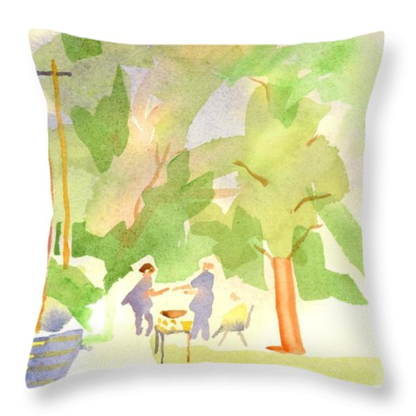 Farmers Market Vll Throw Pillow by Kip DeVore