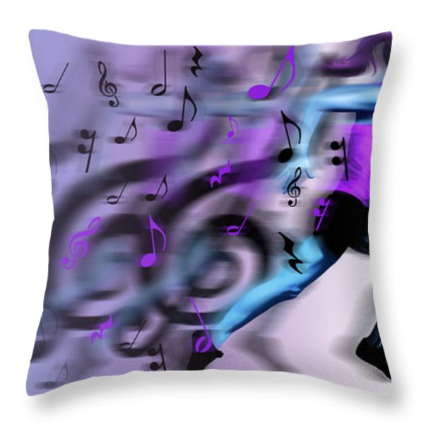 Fast Forward Throw Pillow by Jessica LeClerc