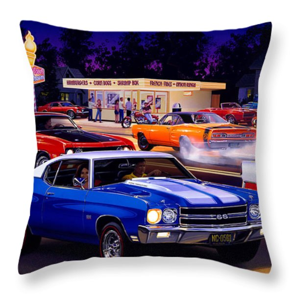 Fast Freds Throw Pillow by Bruce Kaiser