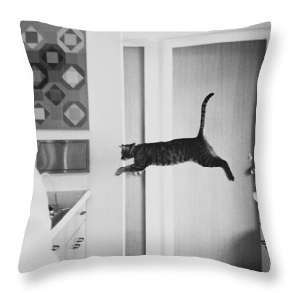 Faster Than A Speeding Bullet Throw Pillow by Lynn Lennon