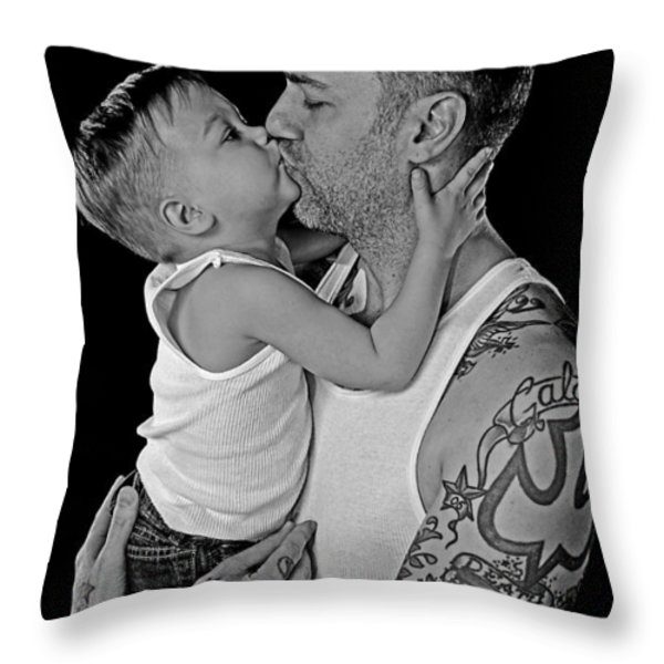 Father And Son Love Throw Pillow by Eric Albright
