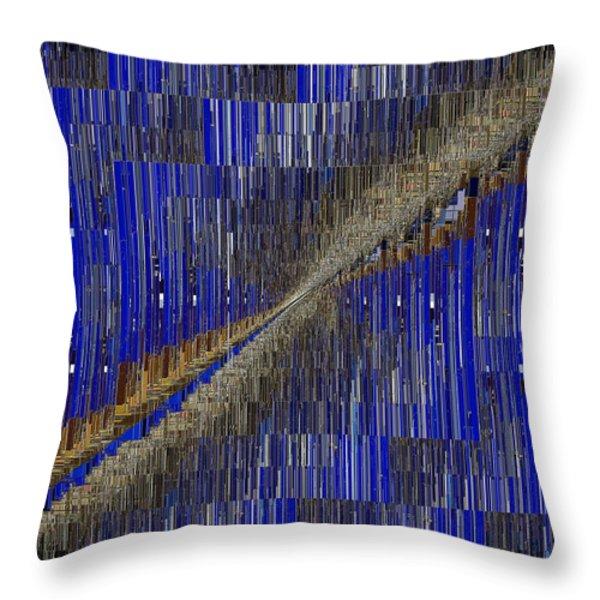 Fault Line Blues Throw Pillow by Tim Allen