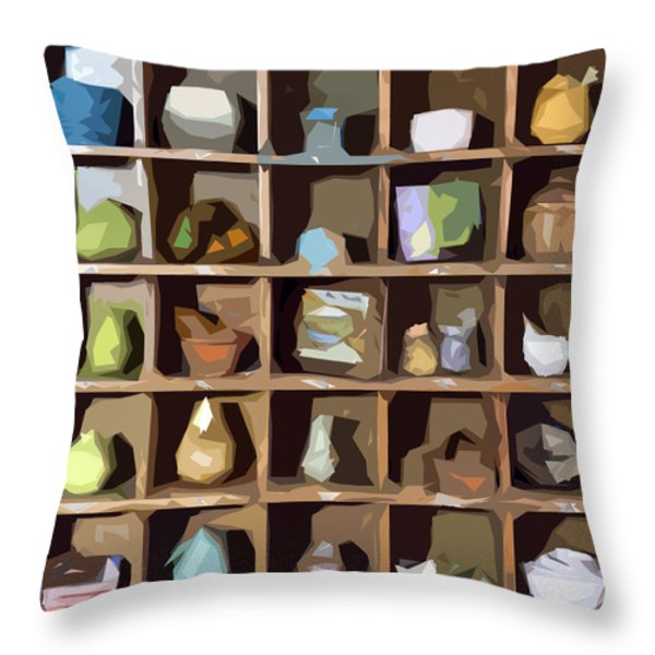 Favorite Things 1 Throw Pillow by Patrick M Lynch