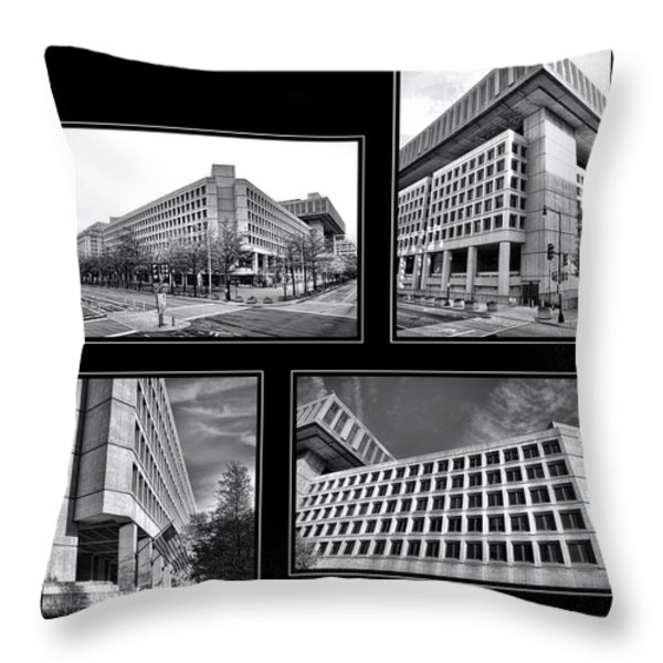 Fbi Poster Throw Pillow by Olivier Le Queinec