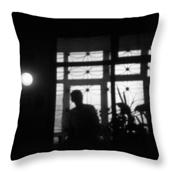 Fear of the dark Throw Pillow by Taylan Soyturk