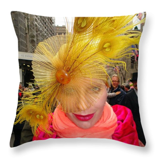 Feathered Finest Throw Pillow by Ed Weidman