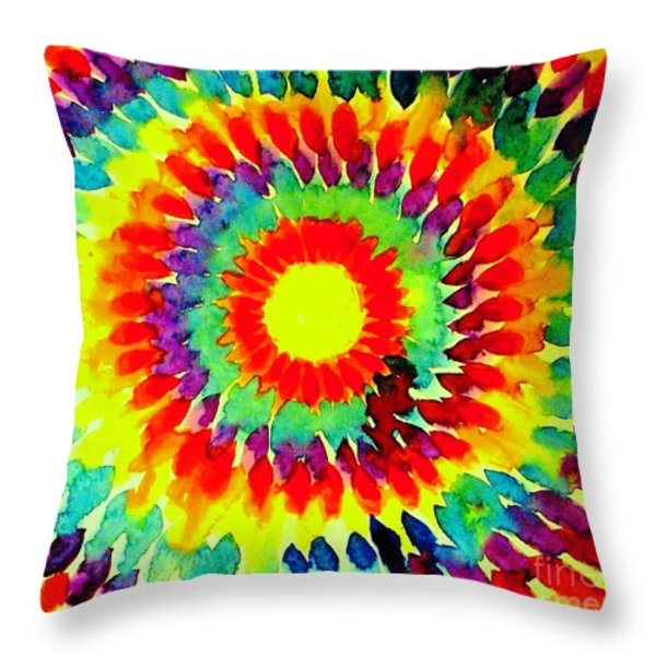 Feathered Sunshine Throw Pillow by Hazel Holland