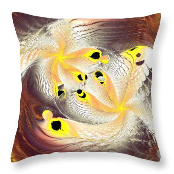 Feathers Throw Pillow by Anastasiya Malakhova
