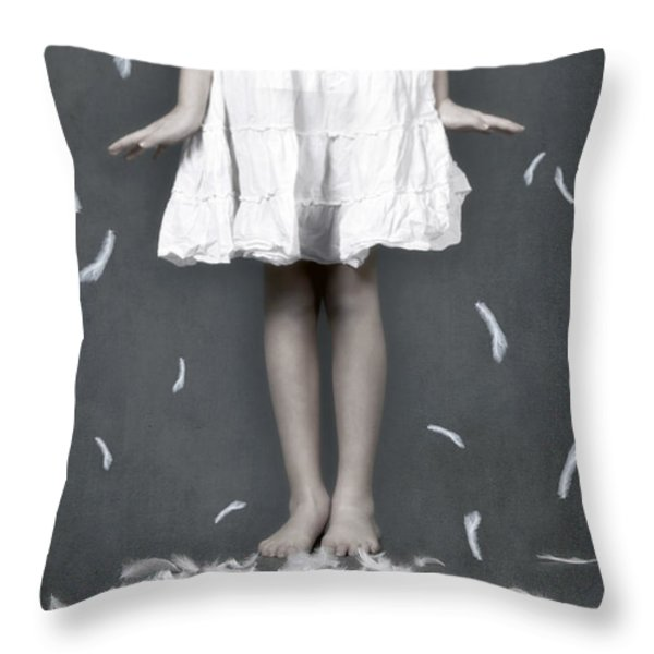 feathers Throw Pillow by Joana Kruse