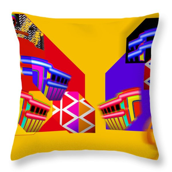 Federal Bank Reserve Throw Pillow by Charles Stuart