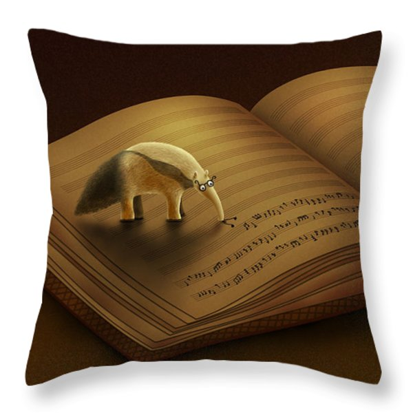 Feeding on the Music Throw Pillow by Gianfranco Weiss