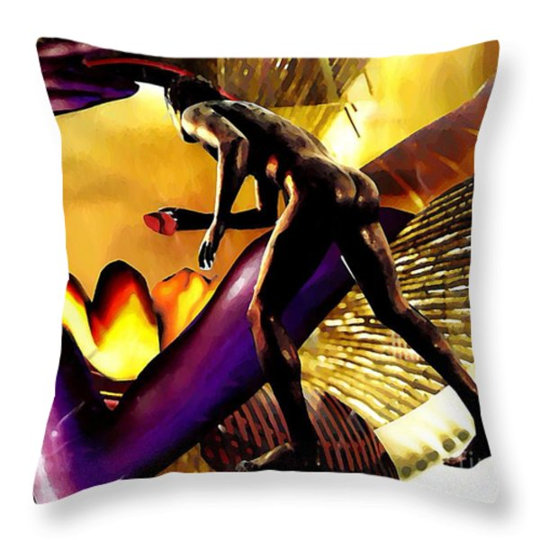 Feeding The Fire Within Throw Pillow by Sarah Loft