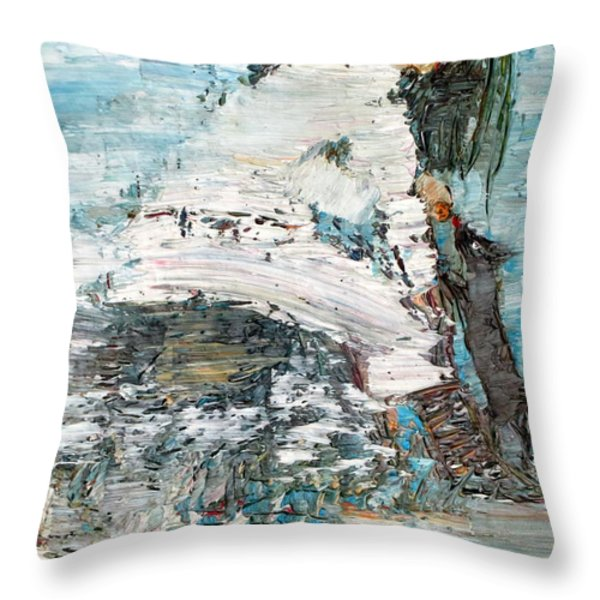 FEEDING WILLY Throw Pillow by Fabrizio Cassetta
