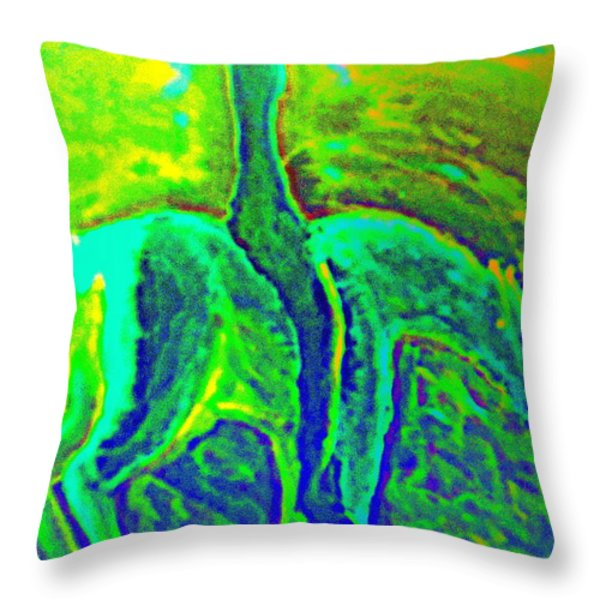 Feeling Free Throw Pillow by Hilde Widerberg