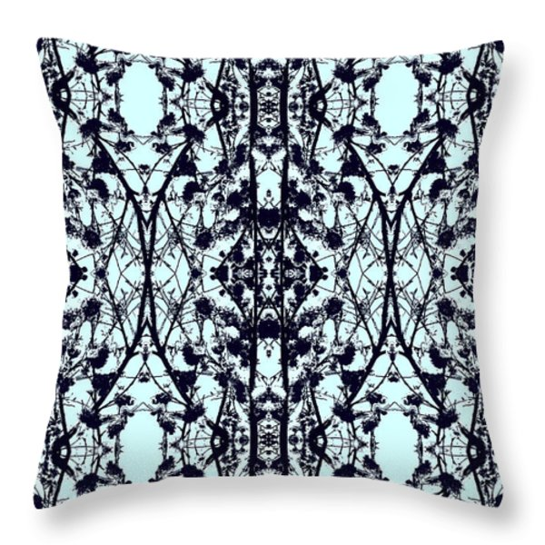 Feeling French Mosaic Throw Pillow by Kate Farrant