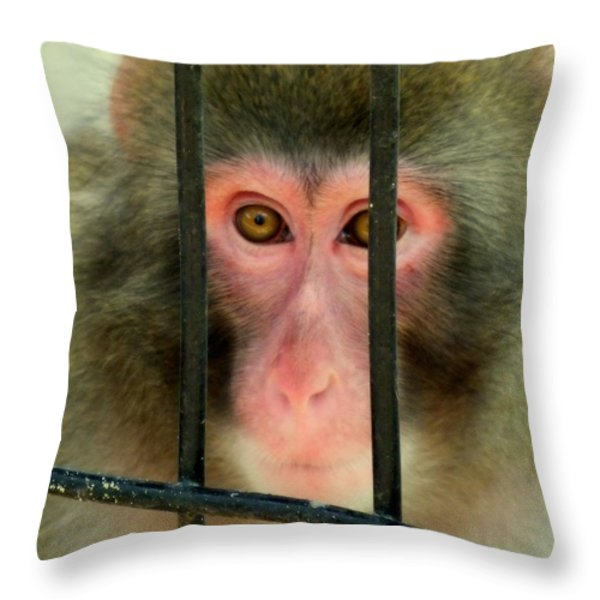 Feelings Throw Pillow by Karen Wiles