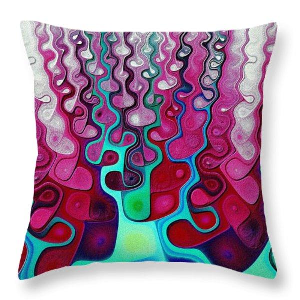 Felt Fantasy Throw Pillow by Anastasiya Malakhova