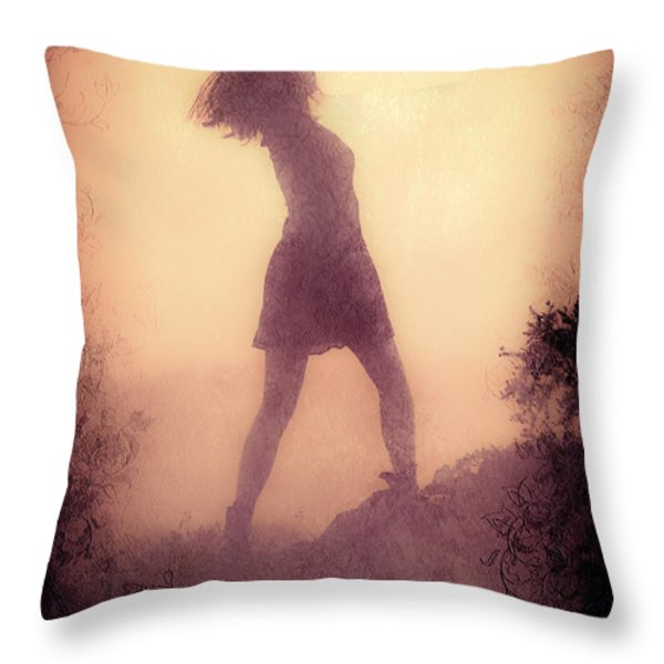 Feminine Freedom Throw Pillow by Loriental Photography