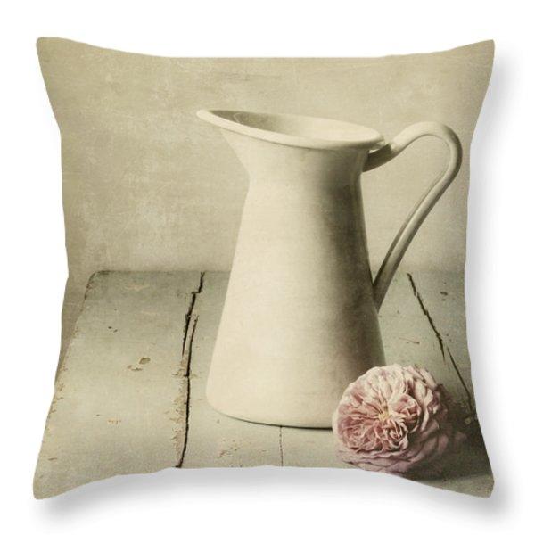Femininity Throw Pillow by Amy Weiss