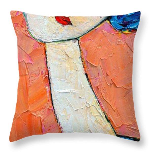 Femininity Throw Pillow by Ana Maria Edulescu