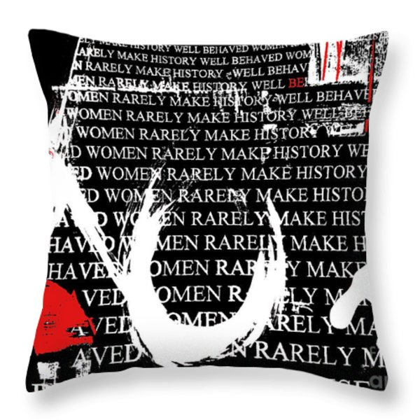 Feminist Hugs and Kisses Throw Pillow by Anahi DeCanio
