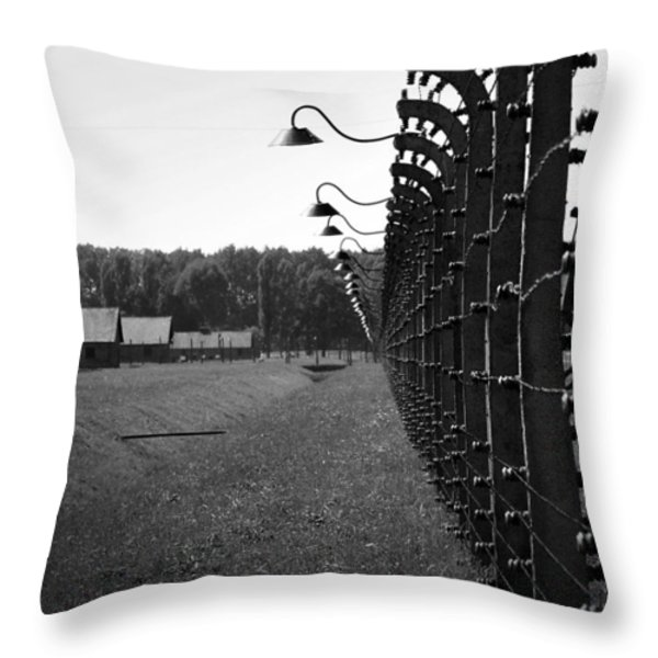 Fence Of Death Throw Pillow by Mountain Dreams