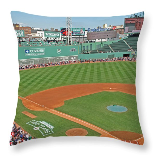 Fenway One Hundred Years Throw Pillow by Barbara McDevitt