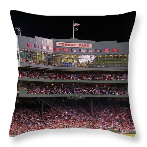 Fenway Park Throw Pillow by Juergen Roth