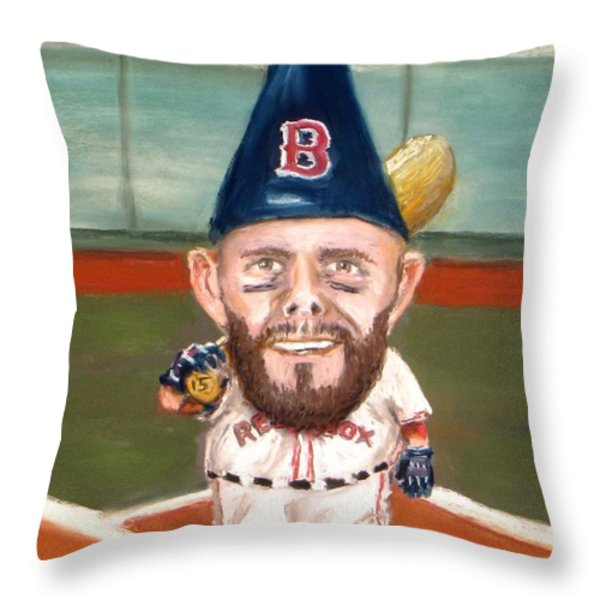 Fenway's Garden Gnome Throw Pillow by Jack Skinner