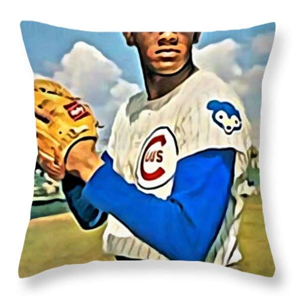 Fergie Jenkins Throw Pillow by Florian Rodarte